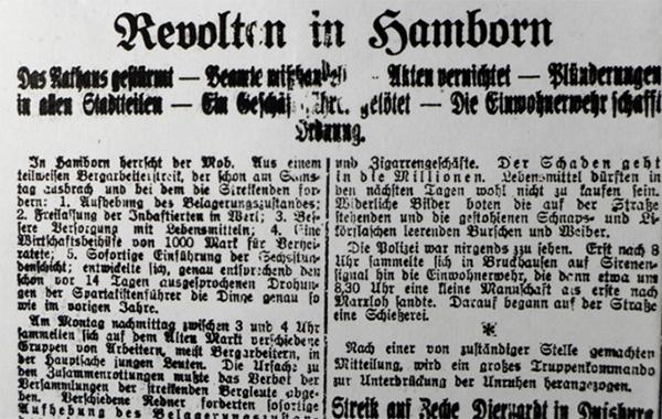 Hamborn, 13. Januar 1920