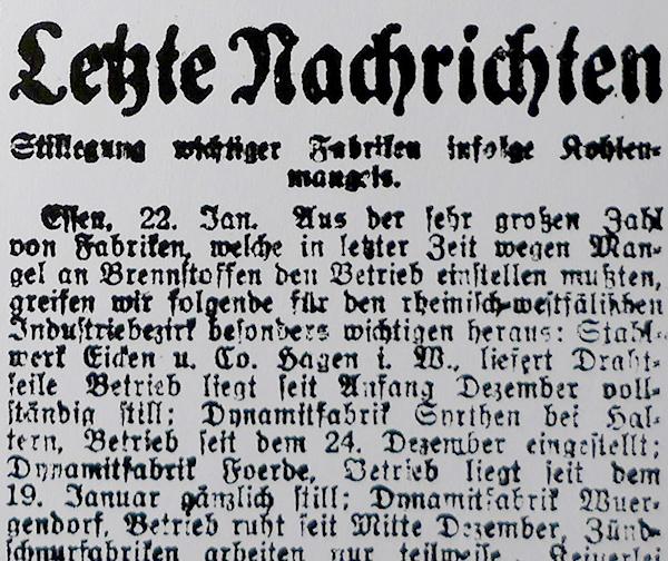 Essen, 22. Januar 1920