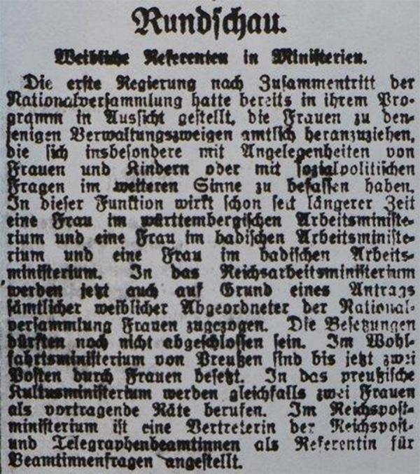 HVZ vom 15. Januar 1920