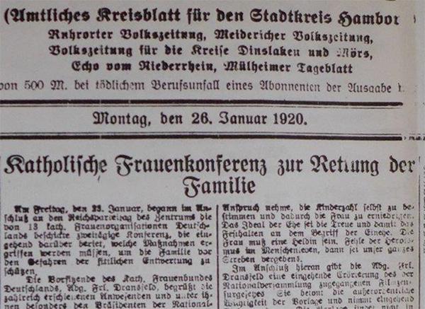 HVZ vom 26. Januar 1920
