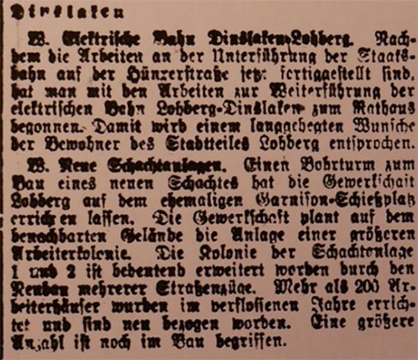 HVZ, Dinslaken, 12. Februar 1920