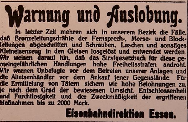 HVZ, Essen, 7. März 1920