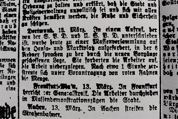 HVZ, Dortmund, 13. März 1920