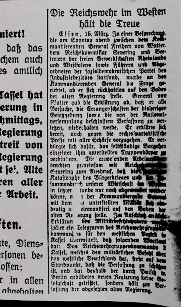 HVZ, Essen, 15. März 1920