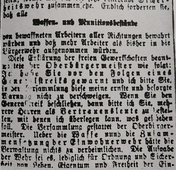HVZ, Ruhrgebiet, 15. März 1920