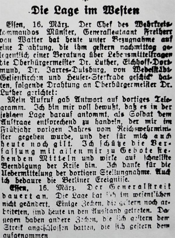 HVZ, Essen, 16. März 1920