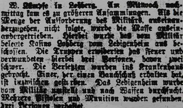 HVZ, 20. März 1920