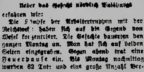HVZ, Duisburg, 21. März 1920