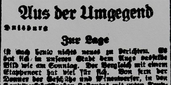 Duisburg, 22. März 1920