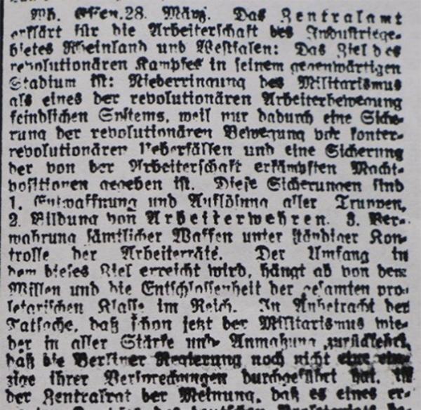 HVZ, Essen, 28. März 1920