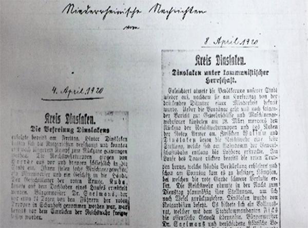 Niederrheinische Nachrichten, 4. April 1920