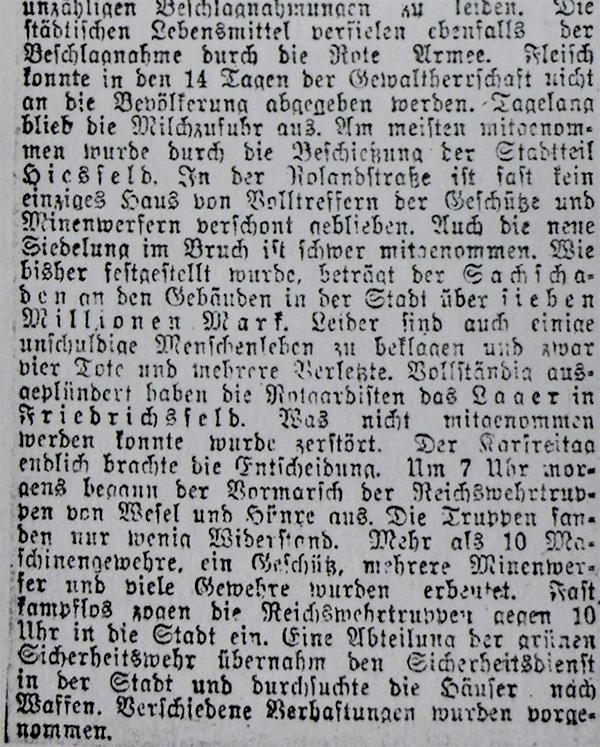 Niederrheinische Nachrichten, 8. April 1920, Kreis Dinslaken.
